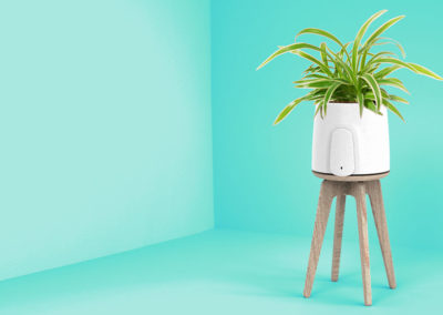 NATEDE, smart air purifier, and stand