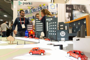 Parkki booth at CES