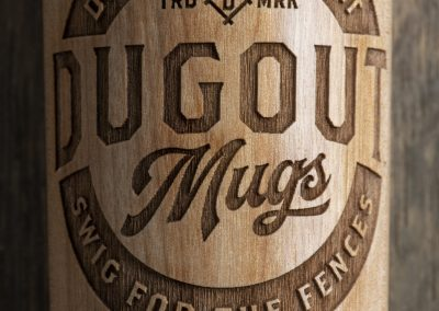 Dugout Mugs close-up