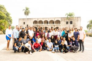 The boot camp participants and facilitators in the Alcazar Plaza.