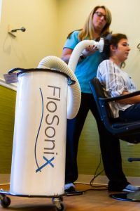 The Flosonix lice treatment device built on the Particle