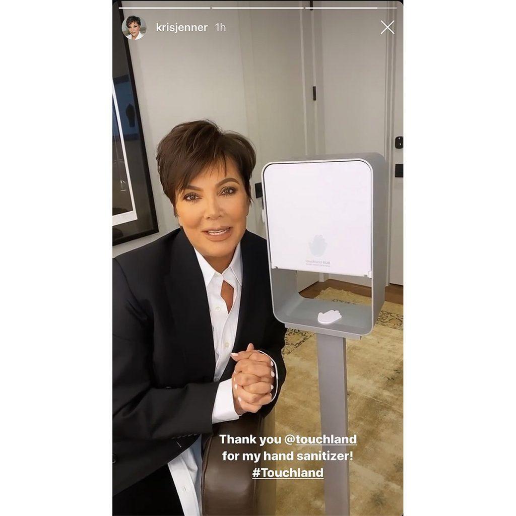 Kris Jenner Sanitizer Touchland