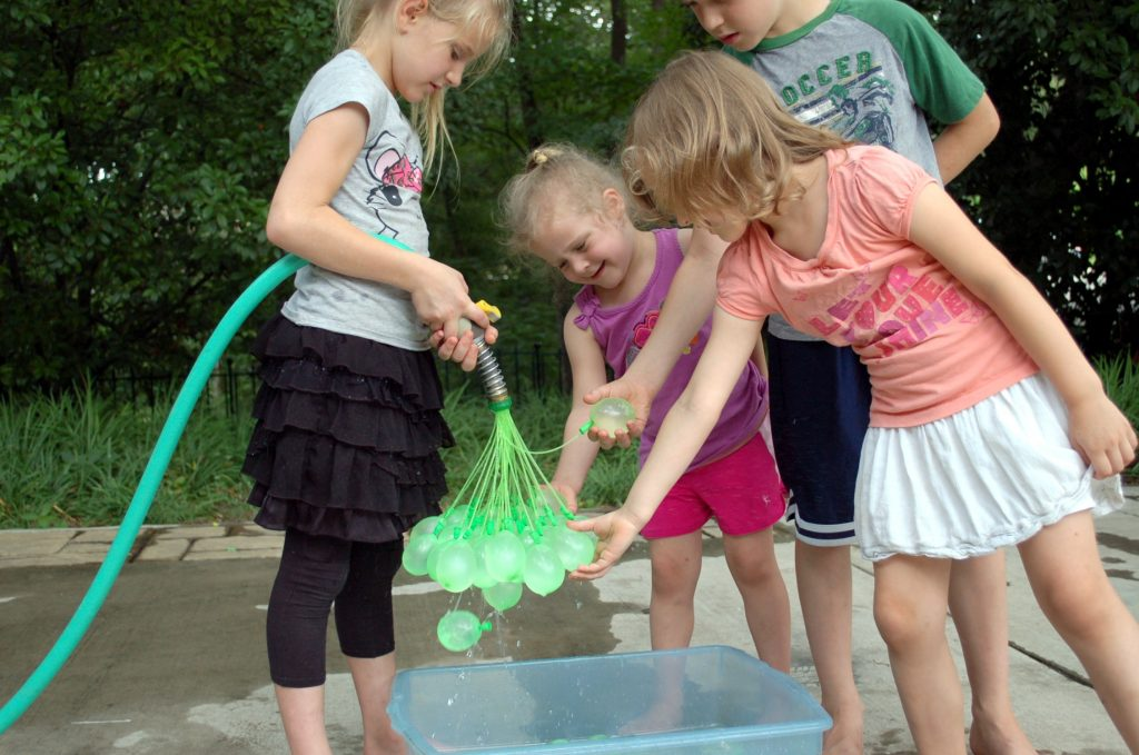Children enjoying Bunch O Balloons.