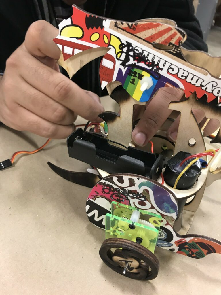 Brushed DC motor in fire-breathing robot dragon prototype