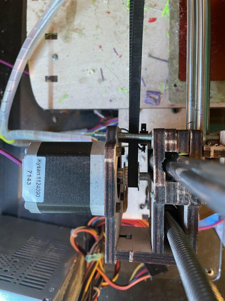 Stepper motor in a 3D printer